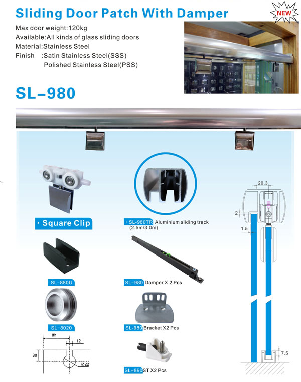 Wholesale door duty sliding door systems SAHARA Glass HARDWARE Brand