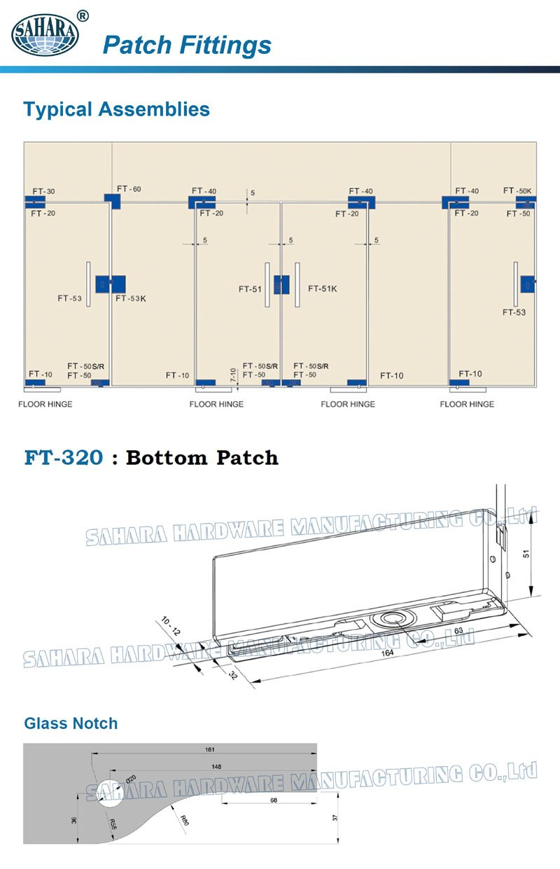 patch glass door patch fitting SAHARA Glass HARDWARE patch fitting glass door