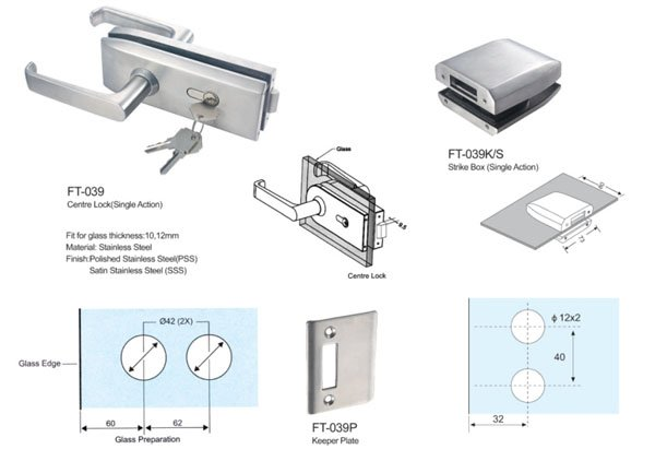 commercial glass door locks GAC SAHARA ROYMA SAHARA Glass HARDWARE