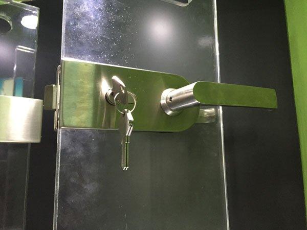 door GAC sliding commercial glass door locks SAHARA Glass HARDWARE