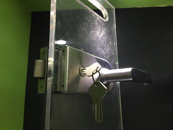 steel bathroom glass door lock SAHARA Glass HARDWARE commercial glass door locks