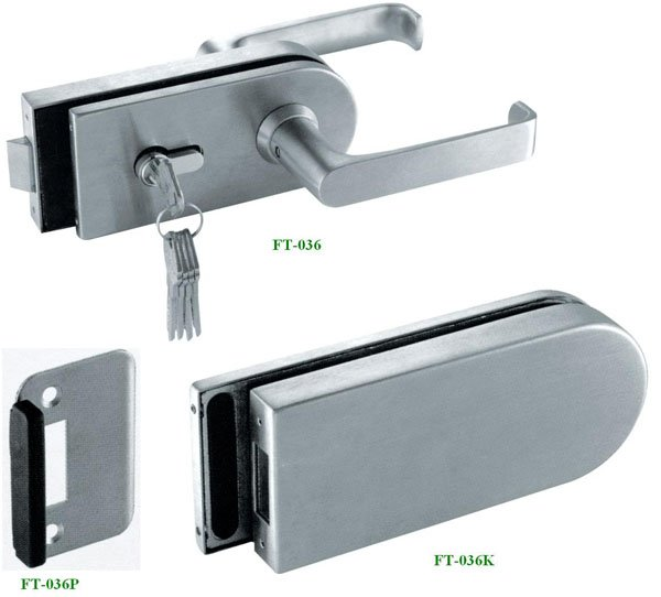 China Stainless Steel Brass Cylinders Glass Door Lock Ft 036 Glass