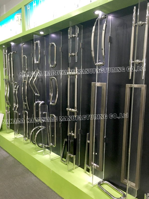 glass handles for doors PSS door polished steel SAHARA Glass HARDWARE