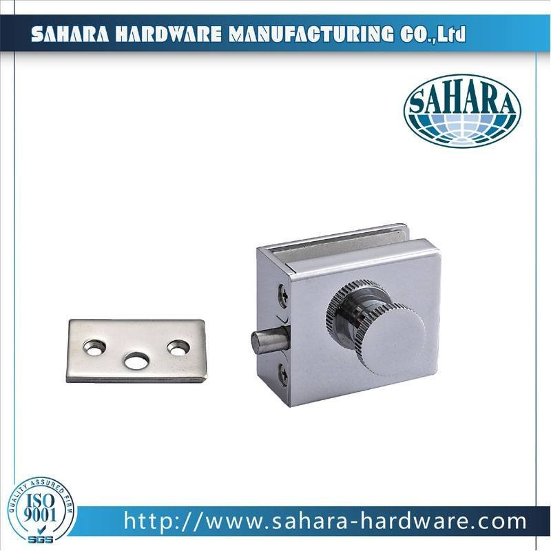 China Stainless Steel Brass Cylinders Glass Door Lock-FT-72