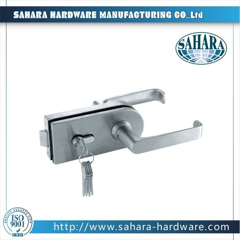 China Stainless Steel Brass Cylinders Glass Door Lock-FT-036