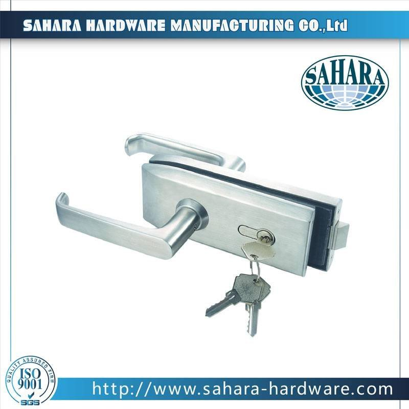 China Stainless Steel Brass Cylinders Glass Door Lock-FT-038