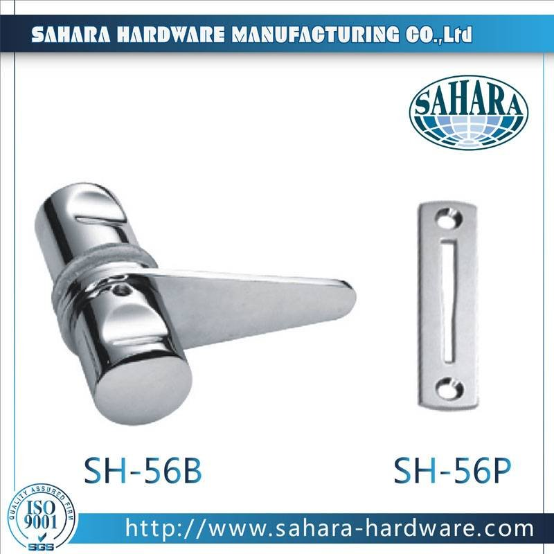 China Stainless Steel Brass Cylinders Glass Door Lock-SH-56B SH-56P