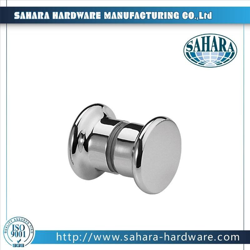 China Brass Round Glass Shower Door Knob-SH-751