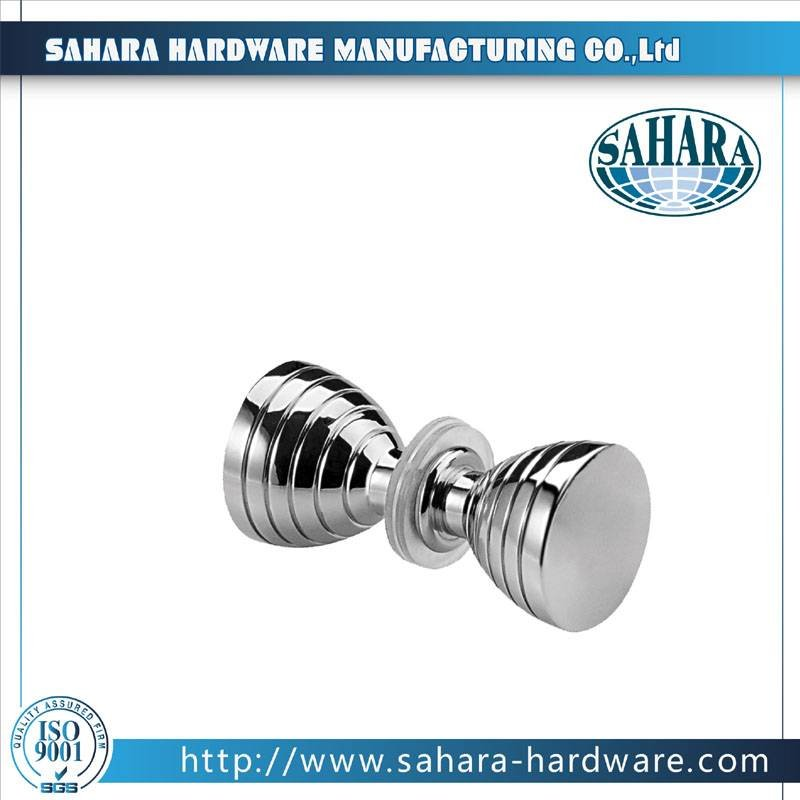 China Brass Round Glass Shower Door Knob-SH-755