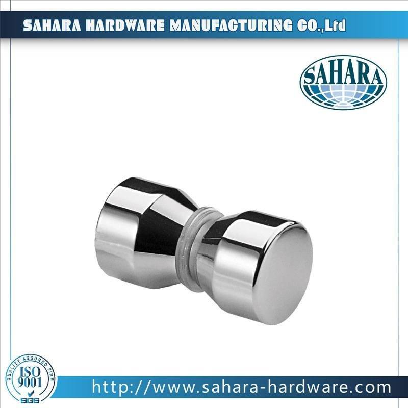 China Brass Round Glass Shower Door Knob-SH-756