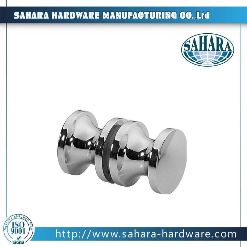 China Brass Round Glass Shower Door Knob-SH-757