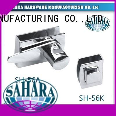 Quality SAHARA Glass HARDWARE Brand cylinders stainless bathroom glass door lock