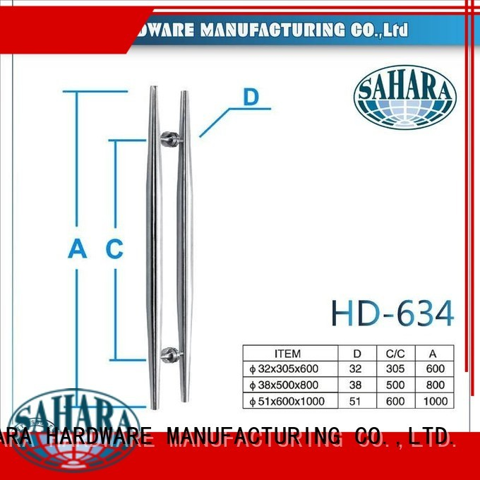 PSS stainless glass handles for doors polished door SAHARA Glass HARDWARE Brand