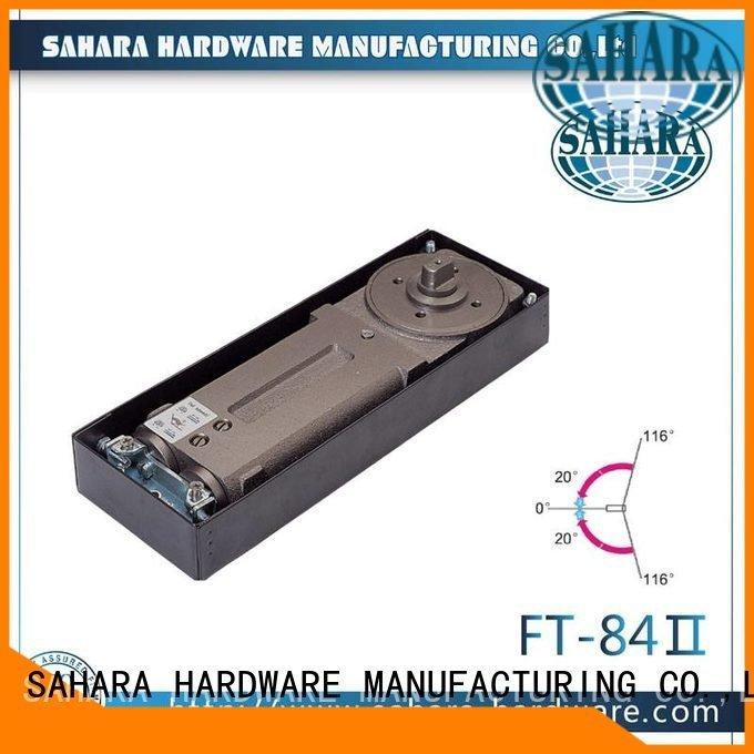 SAHARA Glass HARDWARE Brand Brass cylinder-5keys aluminium floor floor hinge
