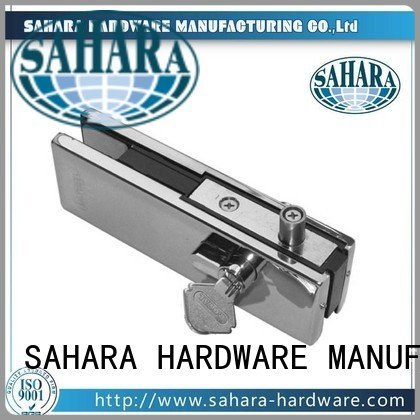 Stainless steel cover SAHARA Glass HARDWARE patch fitting glass door