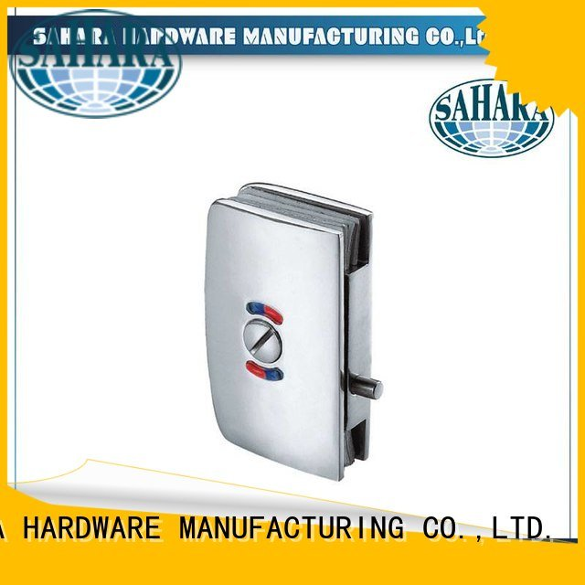 commercial glass door locks SAHARA Aluminium sliding trak stainless steel