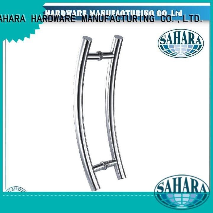 Custom stainless handles for glass doors SAHARA glass handles for doors