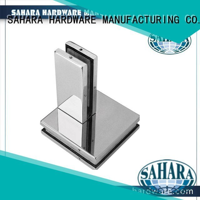 Hot patch fitting glass door hydraulic Aluminium body Stainless steel cover SAHARA Glass HARDWARE Brand