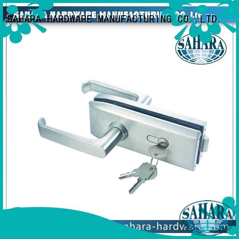 glass aluminum commercial glass door locks SAHARA Glass HARDWARE