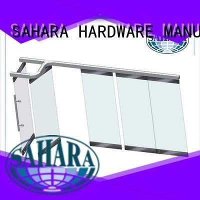 folding glass walls 40mm spacing partition SAHARA Glass HARDWARE Brand
