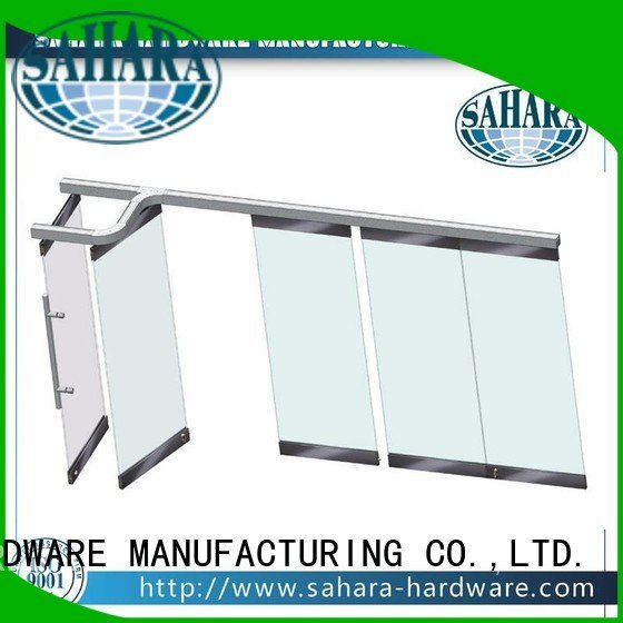 partition frameless system 55mm spacing SAHARA Glass HARDWARE gas lift struts
