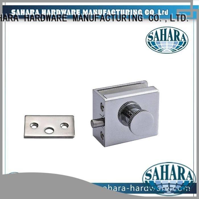 Quality commercial glass door locks SAHARA Glass HARDWARE Brand cylinders bathroom glass door lock