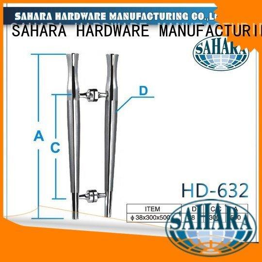polished SAHARA SAHARA Glass HARDWARE glass handles for doors