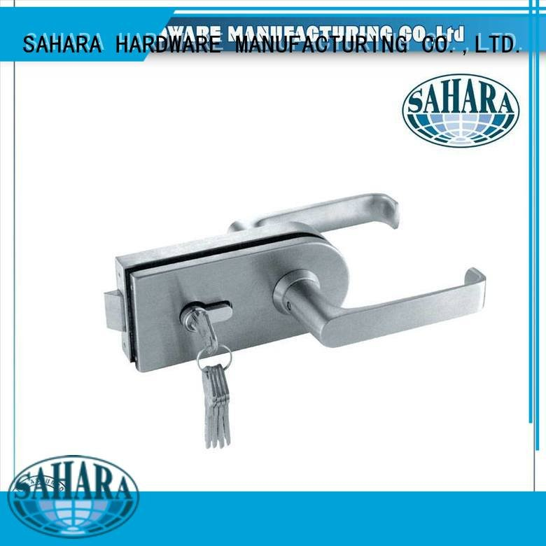 Wholesale steel lockft54 bathroom glass door lock SAHARA Glass HARDWARE Brand