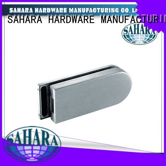 Aluminium sliding trak cylinders bathroom glass door lock SAHARA SAHARA Glass HARDWARE