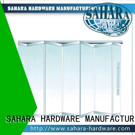 folding glass walls 40mm spacing partition 55mm spacing glass SAHARA Glass HARDWARE