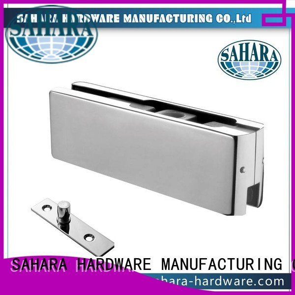 ROYMA Stainless steel cover patch fitting glass door SAHARA Glass HARDWARE