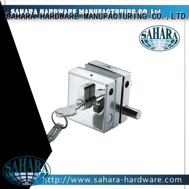 Aluminium sliding trak door GAC commercial glass door locks SAHARA Glass HARDWARE