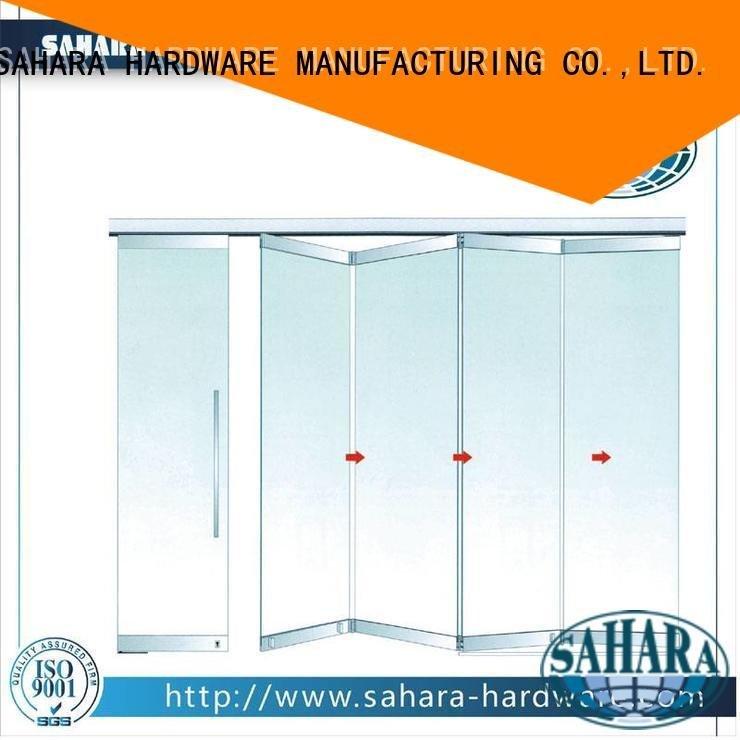 folding glass walls frameless China 55mm spacing folding SAHARA Glass HARDWARE