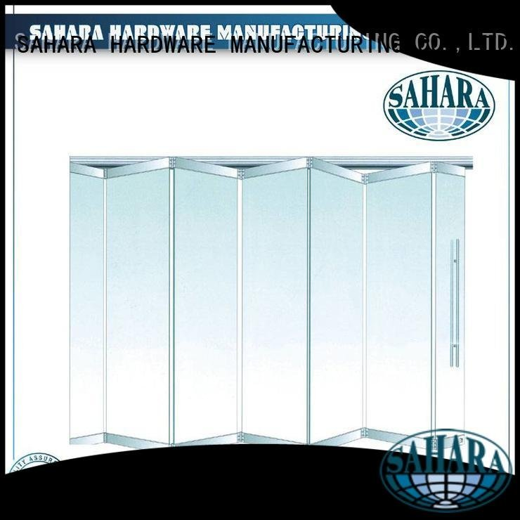 SAHARA Glass HARDWARE folding glass walls system Brass and Stainless Steel 55mm spacing partition
