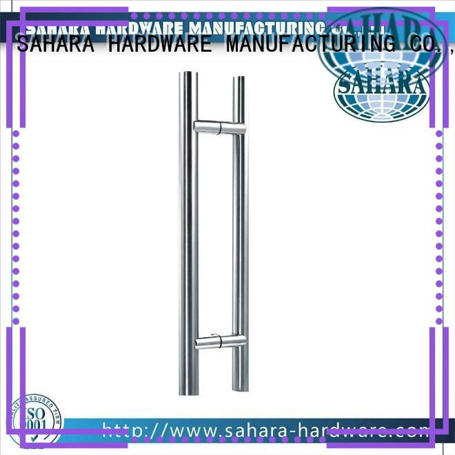 stainless ROYMA PSS glass handles for doors SAHARA Glass HARDWARE manufacture
