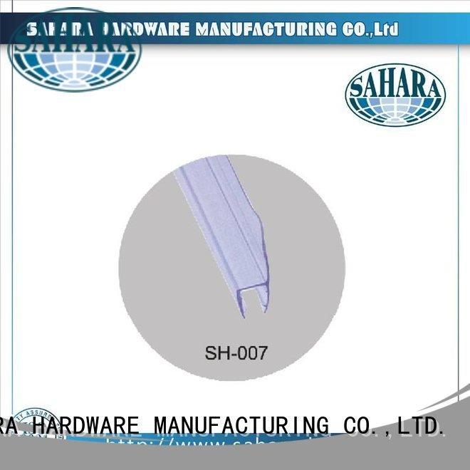 Custom shower door seal strip China Waterproof Brass SAHARA Glass HARDWARE