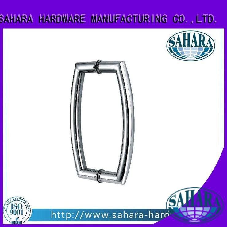 Custom handles for glass doors stainless steel Stain SAHARA Glass HARDWARE